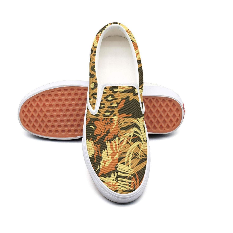 VXCVF Green Leopard Print Man Casual Sneakers Pretty shoefor Mens