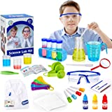 X TOYZ Science Kit, Kids Science Experiment Kit with 38 Pcs Lab Tools Including Lab Coat for Scientist Costume Dress Up ,STEM