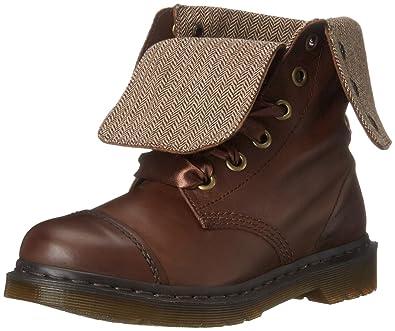 4e4673a31c7aa Amazon.com | Dr. Martens Women's Aimilita Combat Boot, Dark Brown, 3 ...