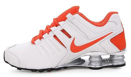 new style 88095 2ec72 czech nike mens shox current shoes white orange 7dfdd 810aa