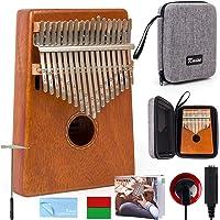 Kalimba - Martillo de 17 teclas para piano Marib de caoba con bolsa acolchada