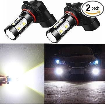 2x 50W H10 9145 9140 9040 6000K White High Power LED Fog Lights Driving Bulb DRL
