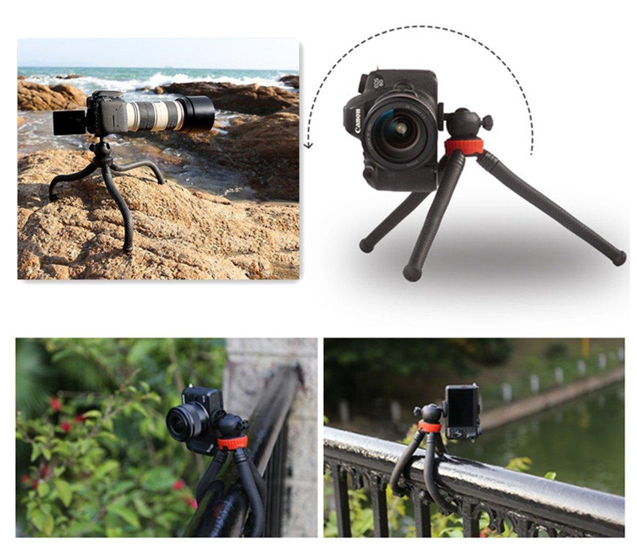 Premium Phone Camera Tripod, Wonsain 12'' Flexible Mini Travel Tripod Stand  with Bluetooth Remote Control for GoPro/Canon/Nikon/Sony DSLR/Cellphone