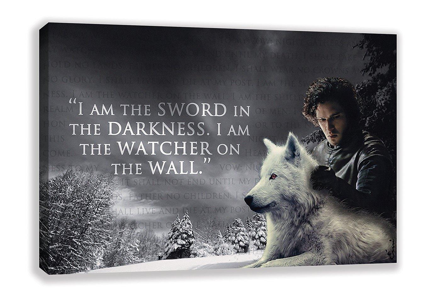 Jon Snow Game Of Thronesキャンバス壁アート 44