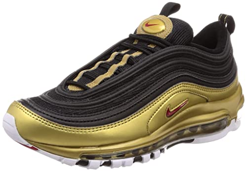 Zapatillas para Hombre NIKE Air MAX 97 QS en Tela Negra y Dorada AT5458-002: Amazon.es: Zapatos y complementos