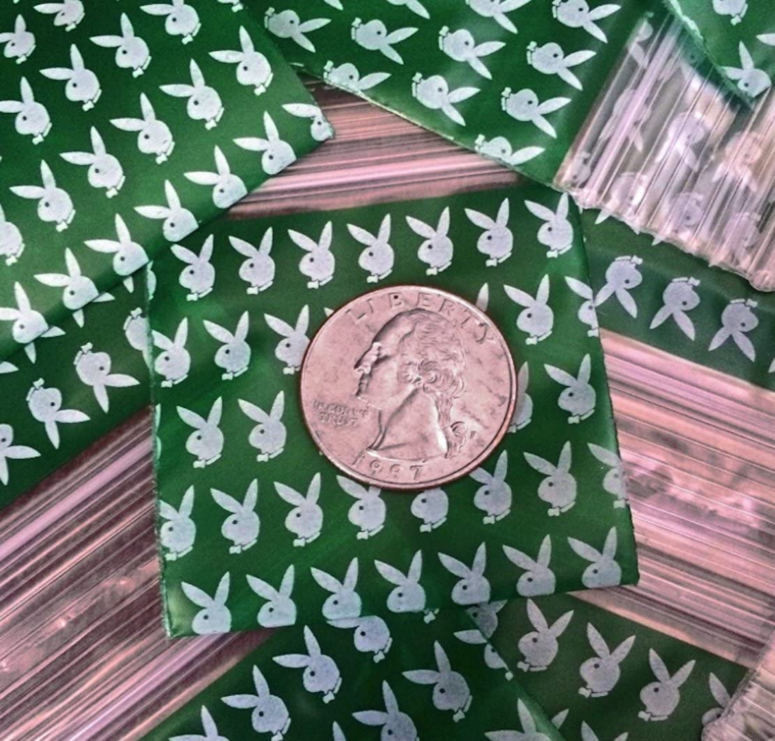 1000-1 x 1 Playboy Bunny Design Small Plastic Ziplock Baggies