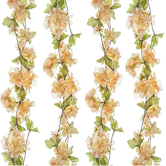 Turelifes - 1 enredadera falsa con flores de cerezo de seda, de 2,2 m de longitud, ideal para fiestas en casa o bodas