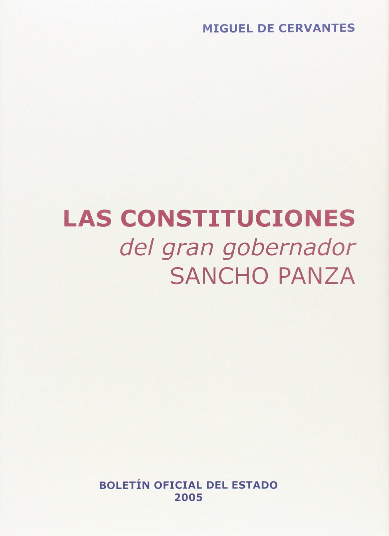 Las constituciones del gran gobernador Sancho Panza Textos ...