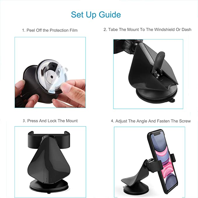 Rockland Mobile Single Ball Phone Holder In Car Mounts On ...