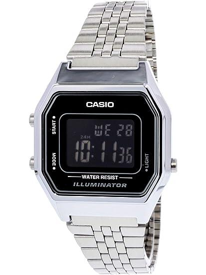 65bfeac67f8 Relógio Feminino Digital Casio Vintage LA680WA-1BDF - Prata  Amazon ...