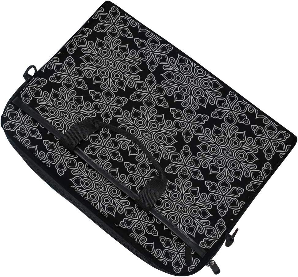 College Students Business People Office Laptop Bag Black Whit Doodle Sketch 15-15.4 Inch Laptop Case Briefcase Messenger Shoulder Bag for Men Women