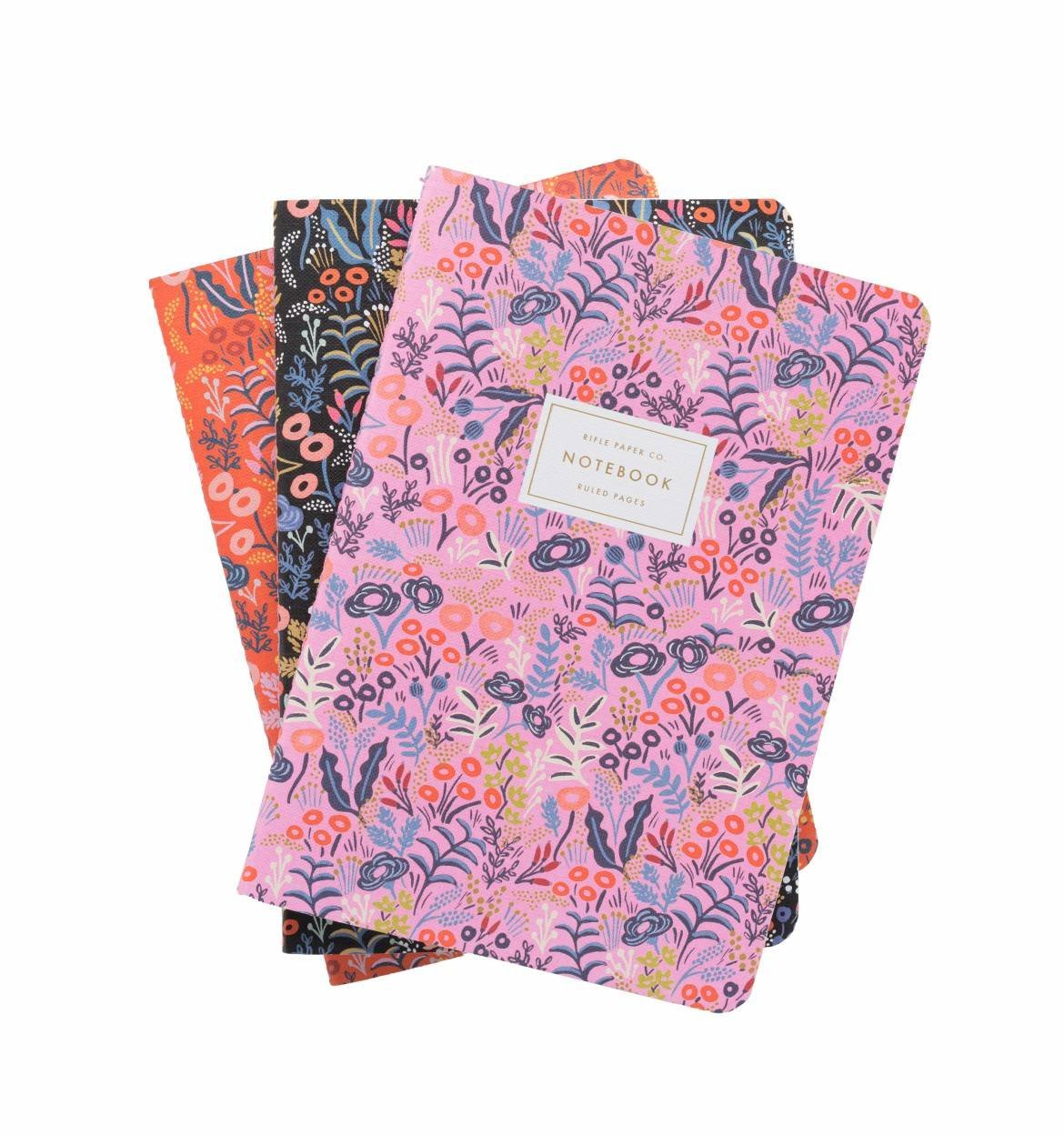 Rifle Paper Company Tapestry Notebook Set Of Three Assorted Stitched Notebooks by Plus Rifle Paper Co.