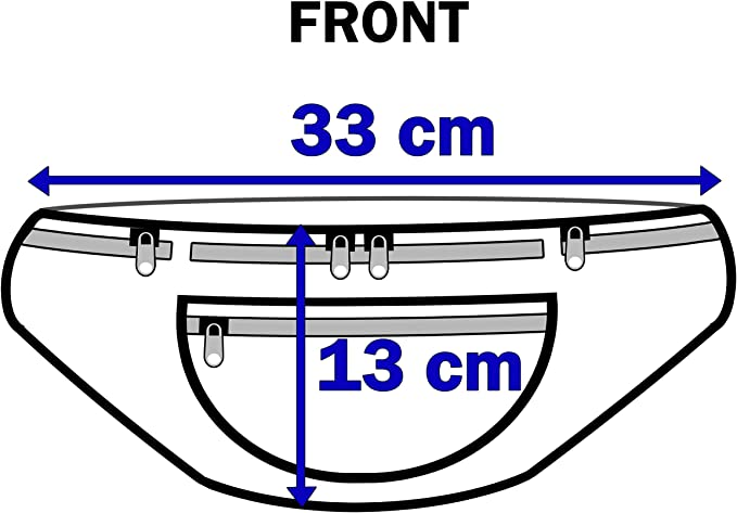 Ananas Vert Clair. QL415M Sac de Voyage en Toile avec 5 Poches zipp/ées pour Tour de Taille jusqu/à 48 cm - QL4172LG Vert