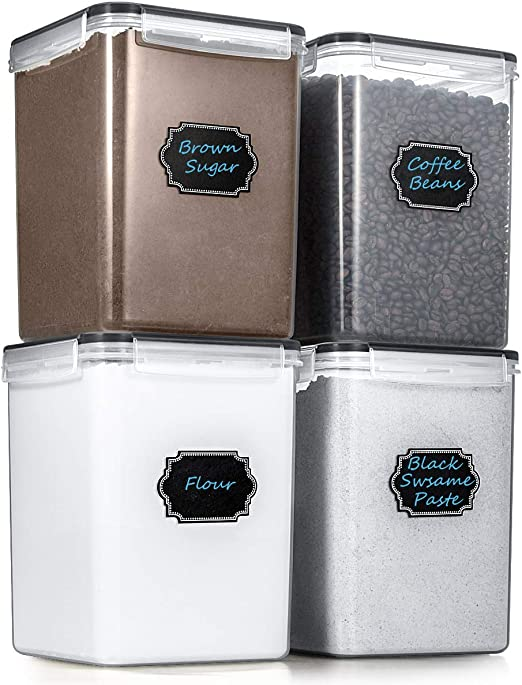 Estmoon Large Airtight Food Storage Containers Cereal Storage Container  Kitchen Storage Containers - Leakproof, Locking Lids, BPA Free, Freezer, ...
