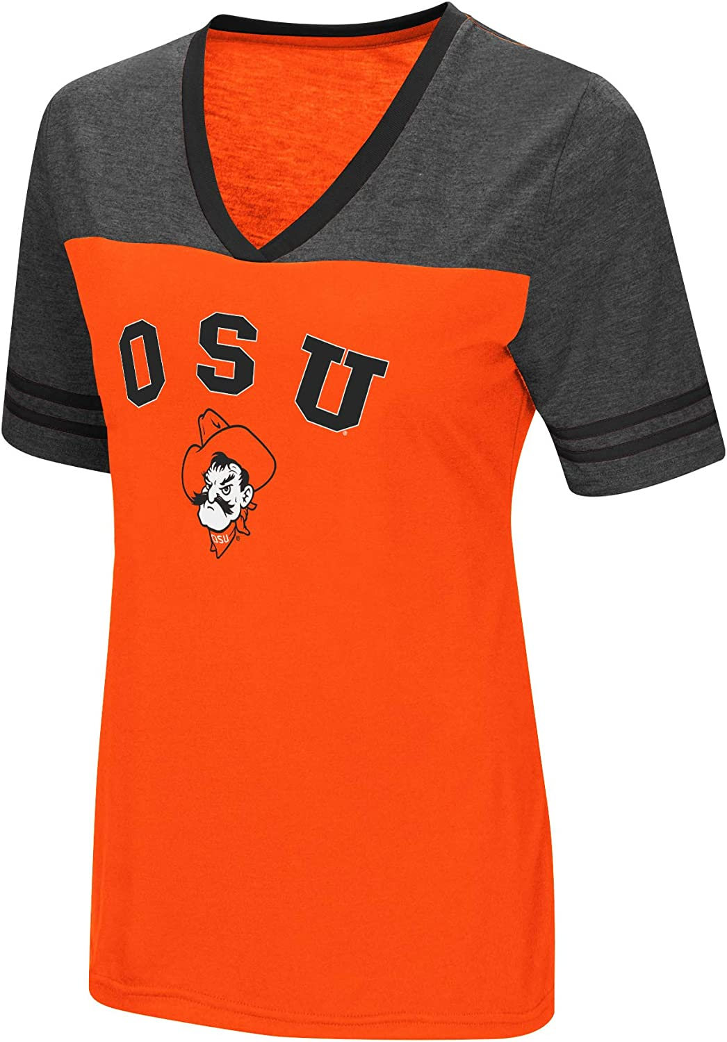 Colosseum Womens NCAA Varsity Jersey V-Neck T-Shirt