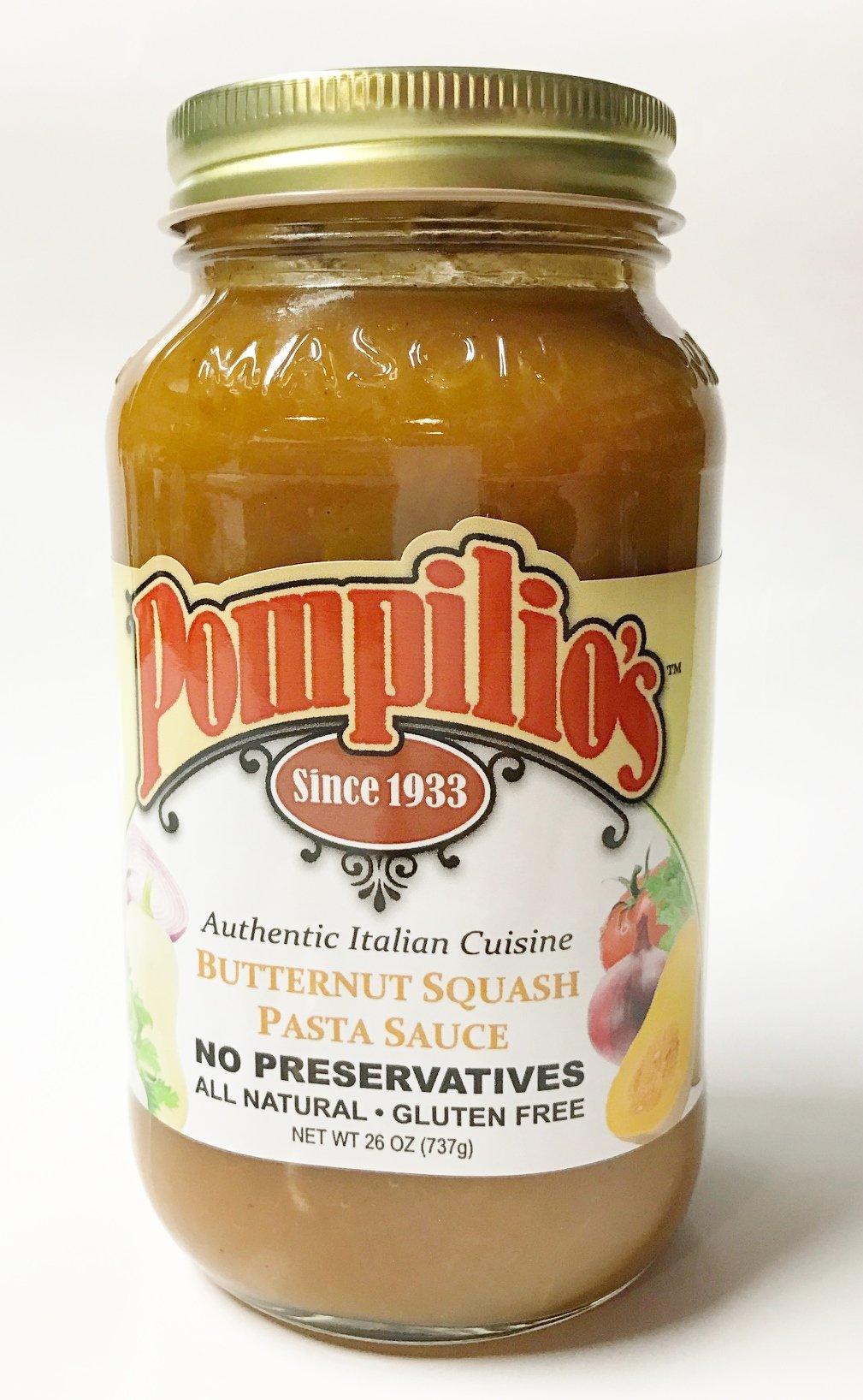 POMPILIOS Sauce Pasta Butternut Squash, 26 Ounce