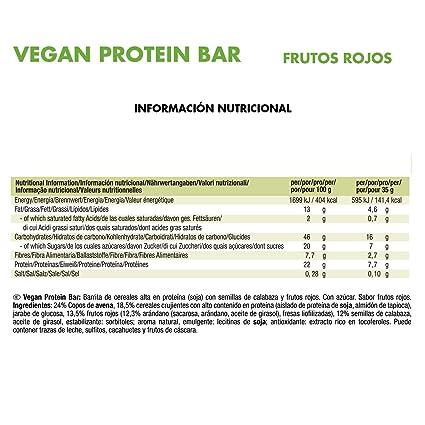 JOE WEIDER VICTORY Vegan Protein Bar Frutos rojos 3 u, 35 g: Amazon.es: Salud y cuidado personal