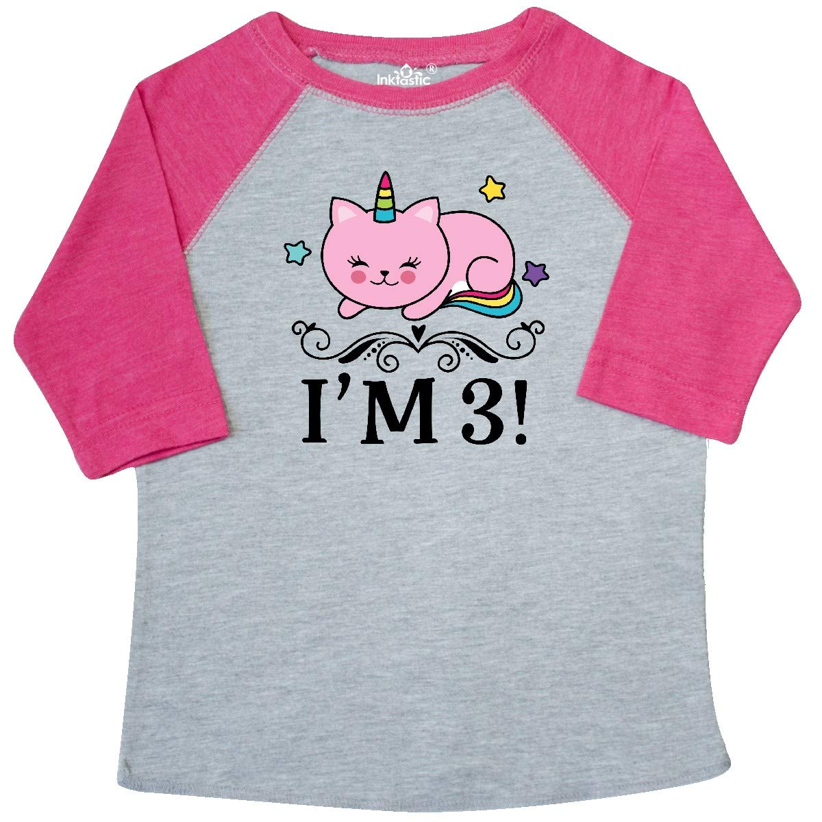 inktastic Third Birthday Cat Unicorn Toddler T-Shirt