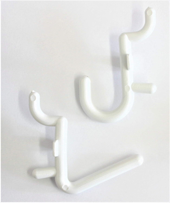 WallPeg 100 pk. Pegboard Hooks – 50 L , 50 J Flex Lock Pegs for Pegboard Tool Organizer - AM 116 B