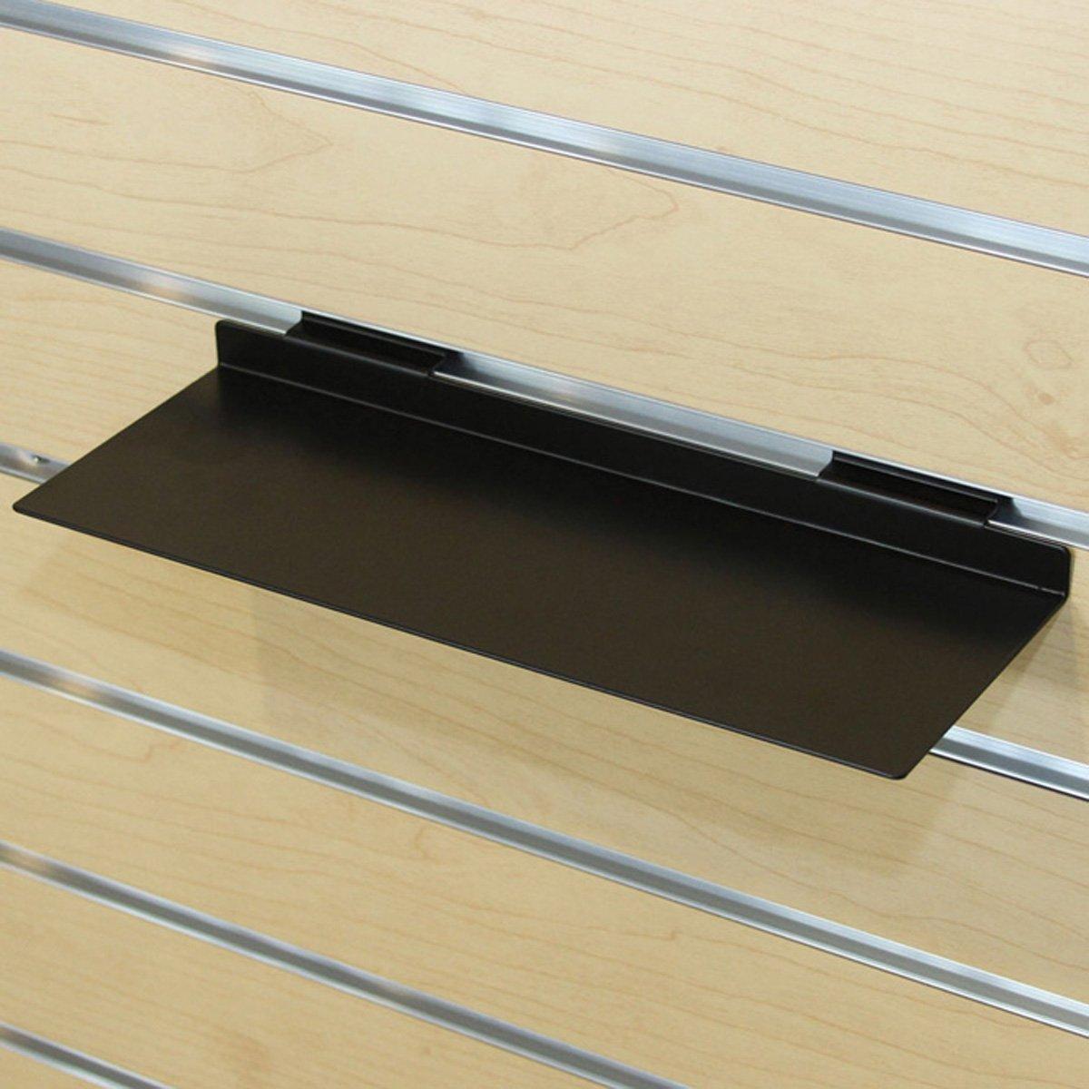 Slatwall Metal Shoes Display Shelf Retail Store Fixture Black Lot of 10 NEW