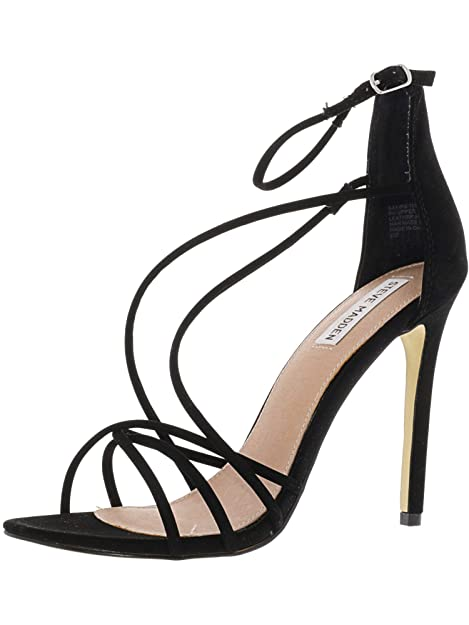 Steve Madden Satire Black Sandals - Sandali Da Donna Neri Pelle  Scamosciata  Amazon.it  Scarpe e borse 05b7b97c394