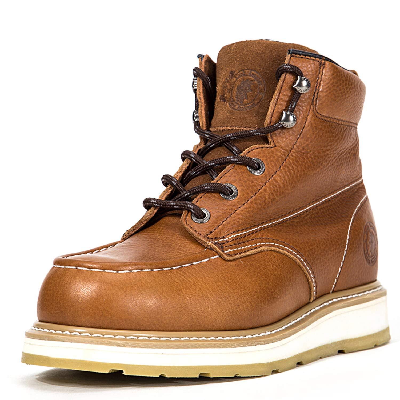 ROCKROOSTER Work Boots(F1-AP828, 8.5-BRN)