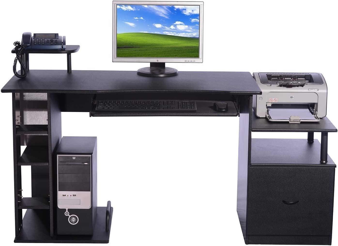 HOMCOM Mesa de Ordenador PC para Oficina Despacho Estudio ...