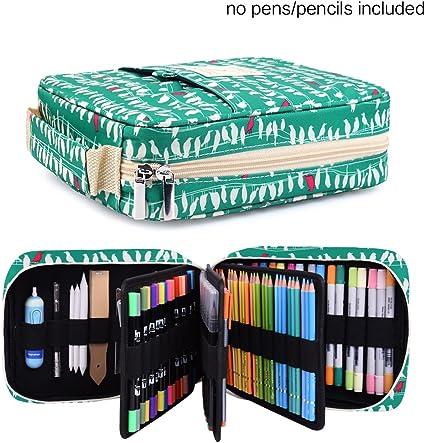 Estuche para lápices – Con capacidad para 202 lápices de colores o 136 bolígrafos de gel, con cierre de cremallera: Amazon.es: Hogar