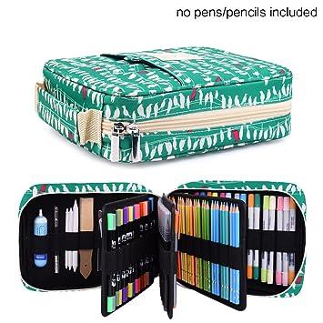 Estuche para lápices – Con capacidad para 202 lápices de colores o 136 bolígrafos de gel, con cierre de cremallera