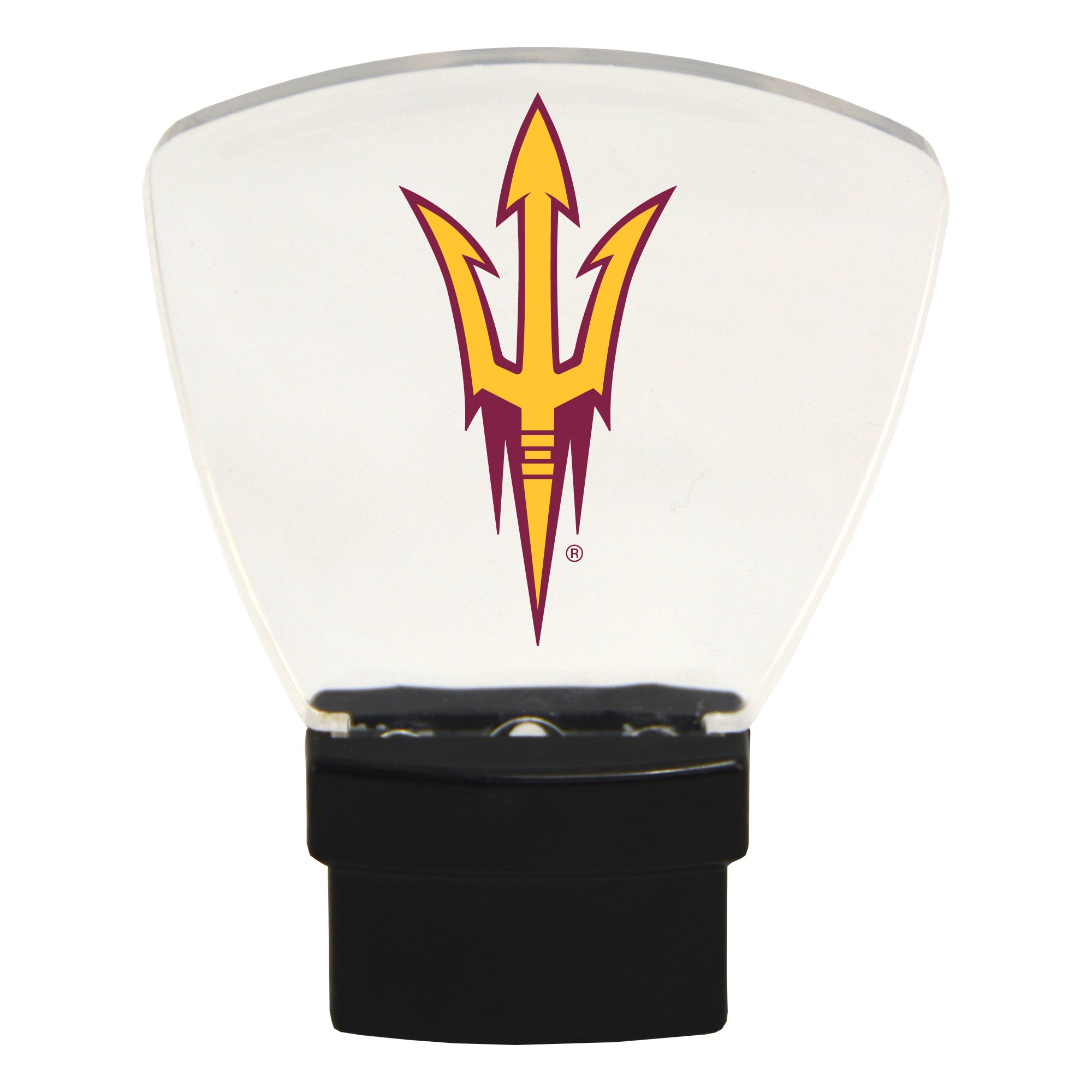 Authentic Street Signs NCAA Officially Licensed-LED NIGHT LIGHT-Super Energy Efficient-Prime Power Saving 0.5 watt, Plug In-Great Sports Fan gift for Adults-Babies-Kids Room (Arizona State Sun Devils)
