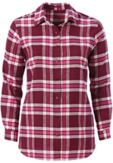 a726e8c13a5 Woman Within Plus Size Classic Flannel Shirt at Amazon Women s ...