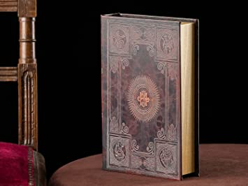 Caja de Libro de Madera de Estilo Antiguo Libro ficticio Caja de la joyer/ía
