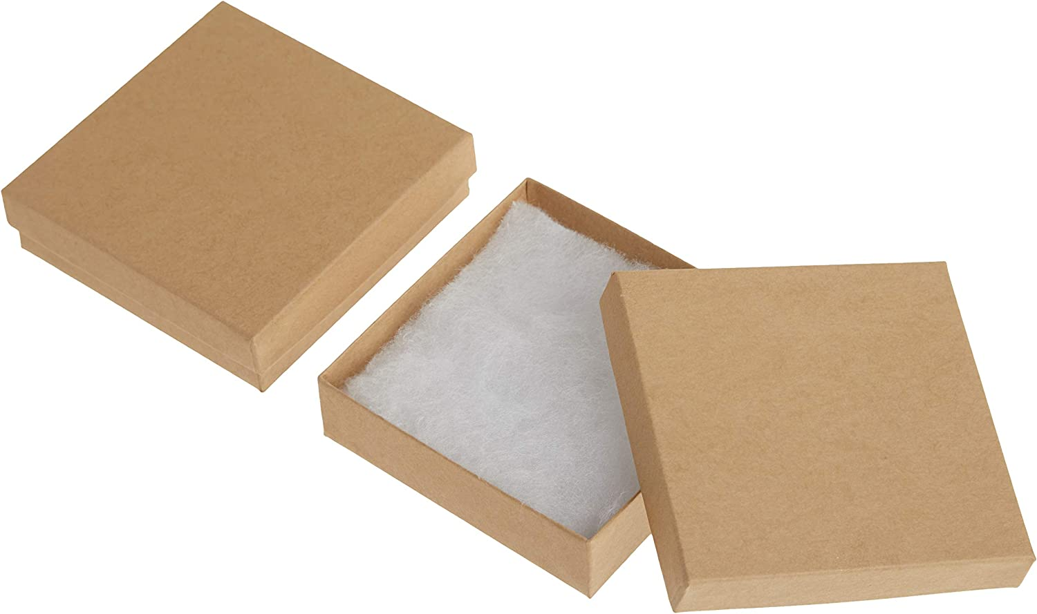 24pcs 6Colors Square Cardboard Jewelry Gift Boxes for Bracelet Making 92x91x22mm