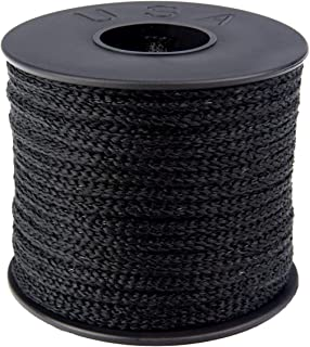 product image for Atwood Rope MFG 3/16 inch 23 Yards / 70 feet Black Round Sewing Elastic | Elastic Cord for Sewing | Braided Elastic | Elastic for Masks | Tela para Mascarillas (3/16)