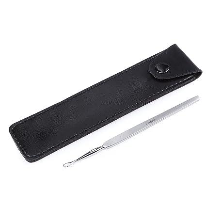 Purovi® Edelstahl Ohrenreiniger - Hygienisches Edelstahl Instrument zur Ohrenreinigung - Sterilisierbar Q Tip - Ohrenreiniger