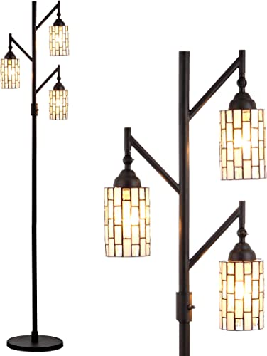 JONATHAN Y JYL8012A Lewis Style 71 Multi-Light LED Floor Lamp, Tiffany, Traditional for Bedroom, Living Room, Bronze