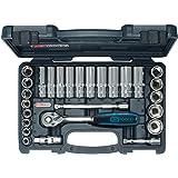 """KS Tools 918.0627 Coffret de douilles 3/8"""" - CHROMEplus - 27pcs"""