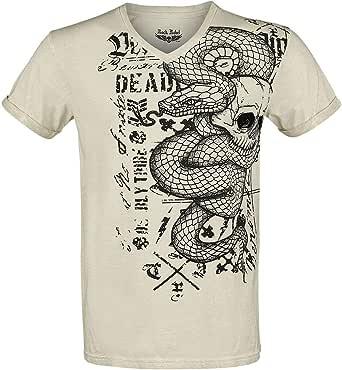 Rock Rebel by EMP Heavy Soul Hombre Camiseta Gris, Regular: Amazon.es: Ropa y accesorios