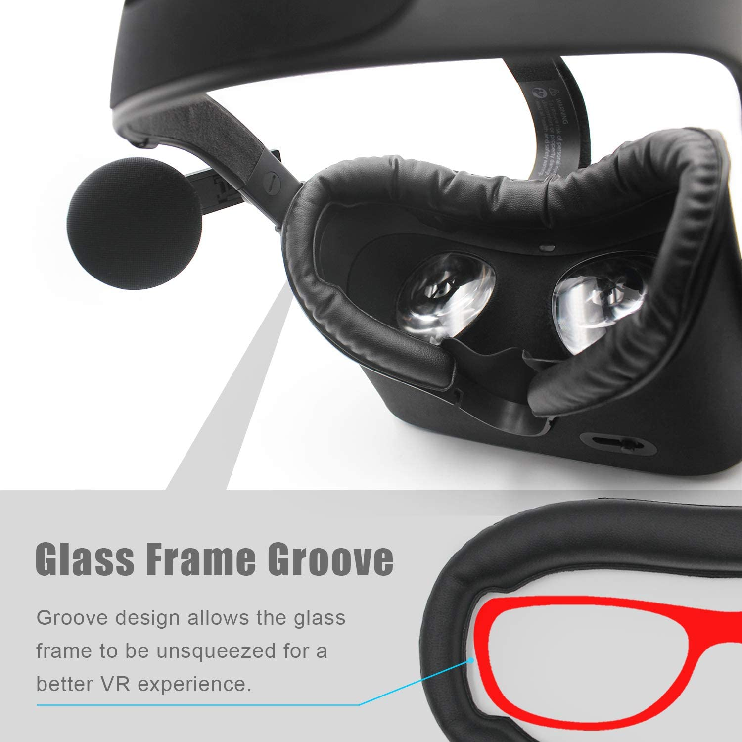 Replacement for Oculus Rift CV1 VR Headset Cover PU leather Foam Eye Pad Virtual Reality Accessory