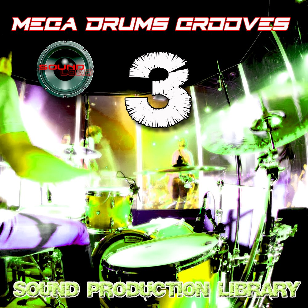 MEGA DRUMS GROOVES 3 - Production Samples Library - Kits/Loops/Performances 8.5GB on 2DVDs/download