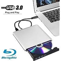 External 3D 4K Blu ray DVD CD Drive Burner, Portable USB 3.0 Blu-Ray DVD Player Writer Reader Disk for Laptop Notebook…