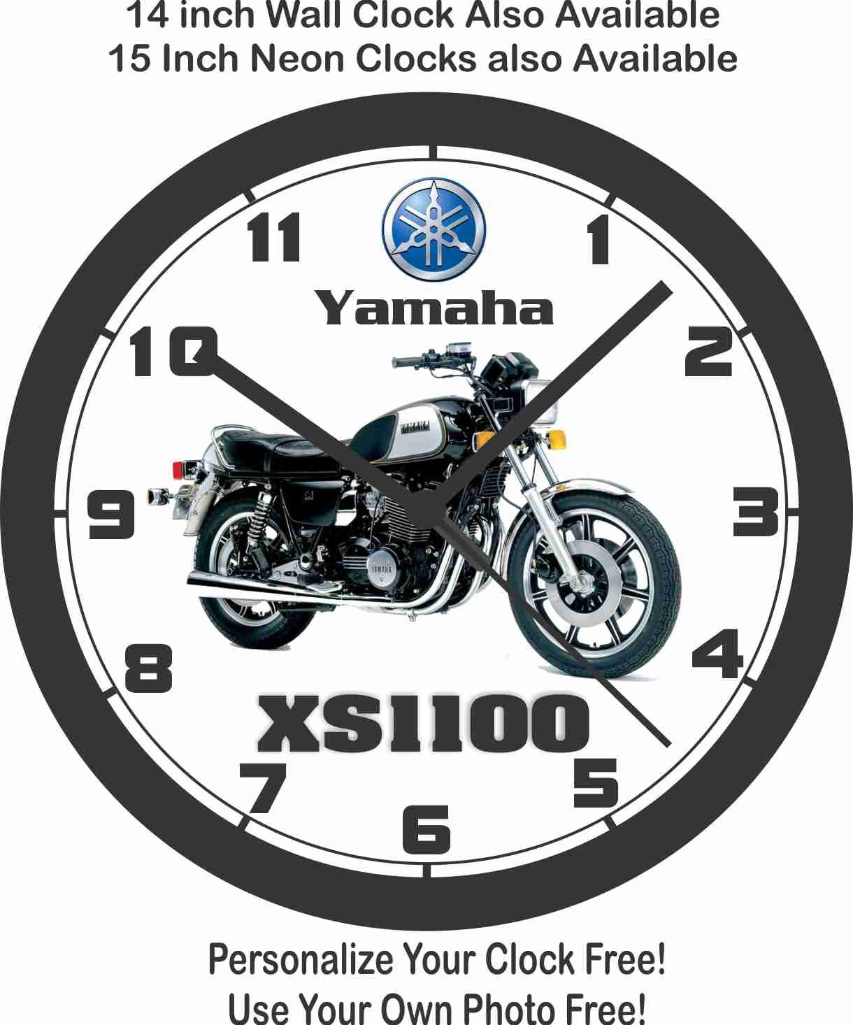 Amazon.com: 1978 yamaha XS1100 motocicleta reloj de pared ...