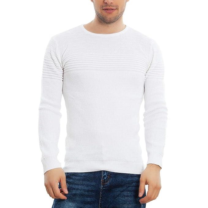 Pullover da uomo slim fit girocollo