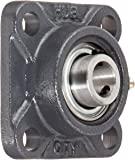 "Hub City FB250URX5/8 Flange Block Mounted Bearing, 4 Bolt, Normal Duty, Relube, Setscrew Locking Collar, Narrow Inner Race, Cast Iron Housing, 5/8"" Bore, 1.22"" Length Through Bore, 2.126"" Mounting Hole Spacing"