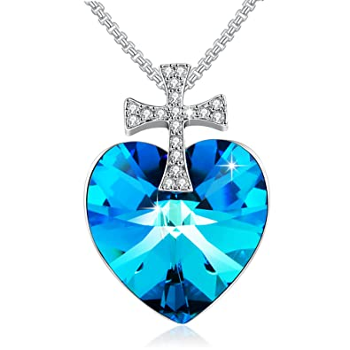 Collier diamant bleu