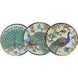 Royal Peacock 12-pc Punch Studio Coaster Set