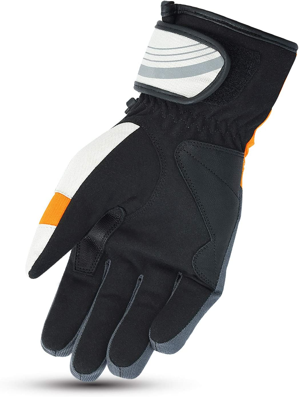 M, Fluro JET Motorcycle Motorbike Gloves Light Weight Waterproof Thermal Knuckle Protection Reflective Detailing AquaTex