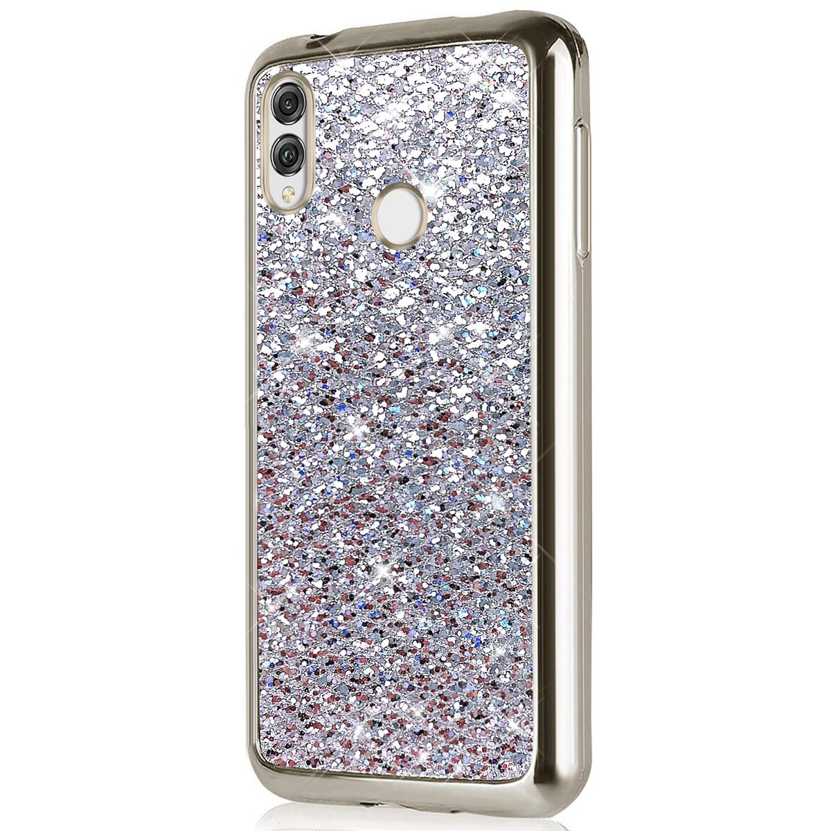 Felfy Kompatibel mit Huawei P Smart 2019 H/ülle Rosa,Bling Glitzer Gl/änzend Pailletten Luxus Schutzh/ülle Ultra D/ünn Weich Gel TPU Silikon M/ädchen Handyh/ülle Handytasche Kratzfeste Bumper Cover Case