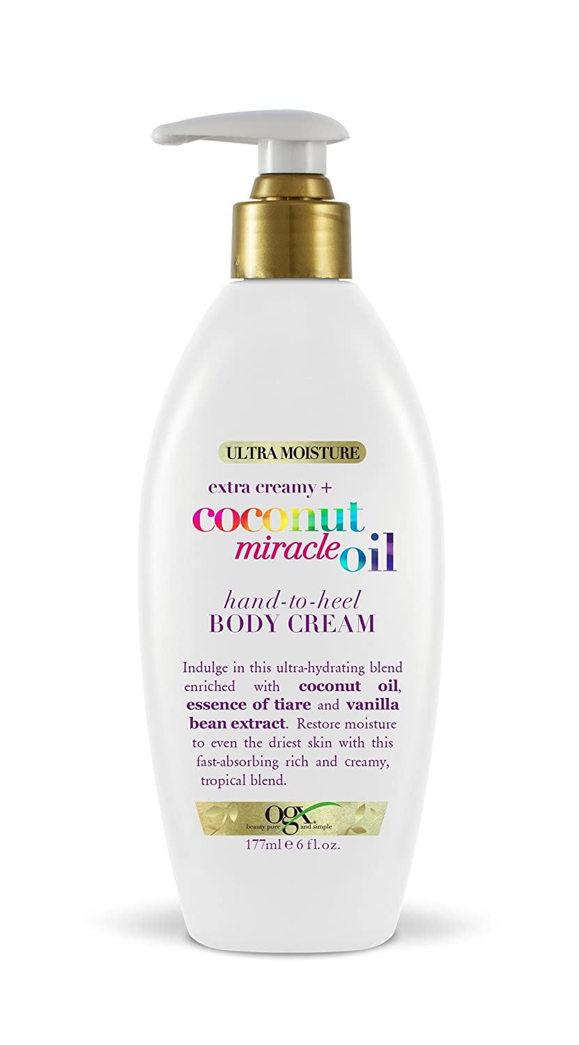 OGX Extra Creamy + Coconut Miracle Oil Hand-to-Heel Body Cream, 6 Ounces