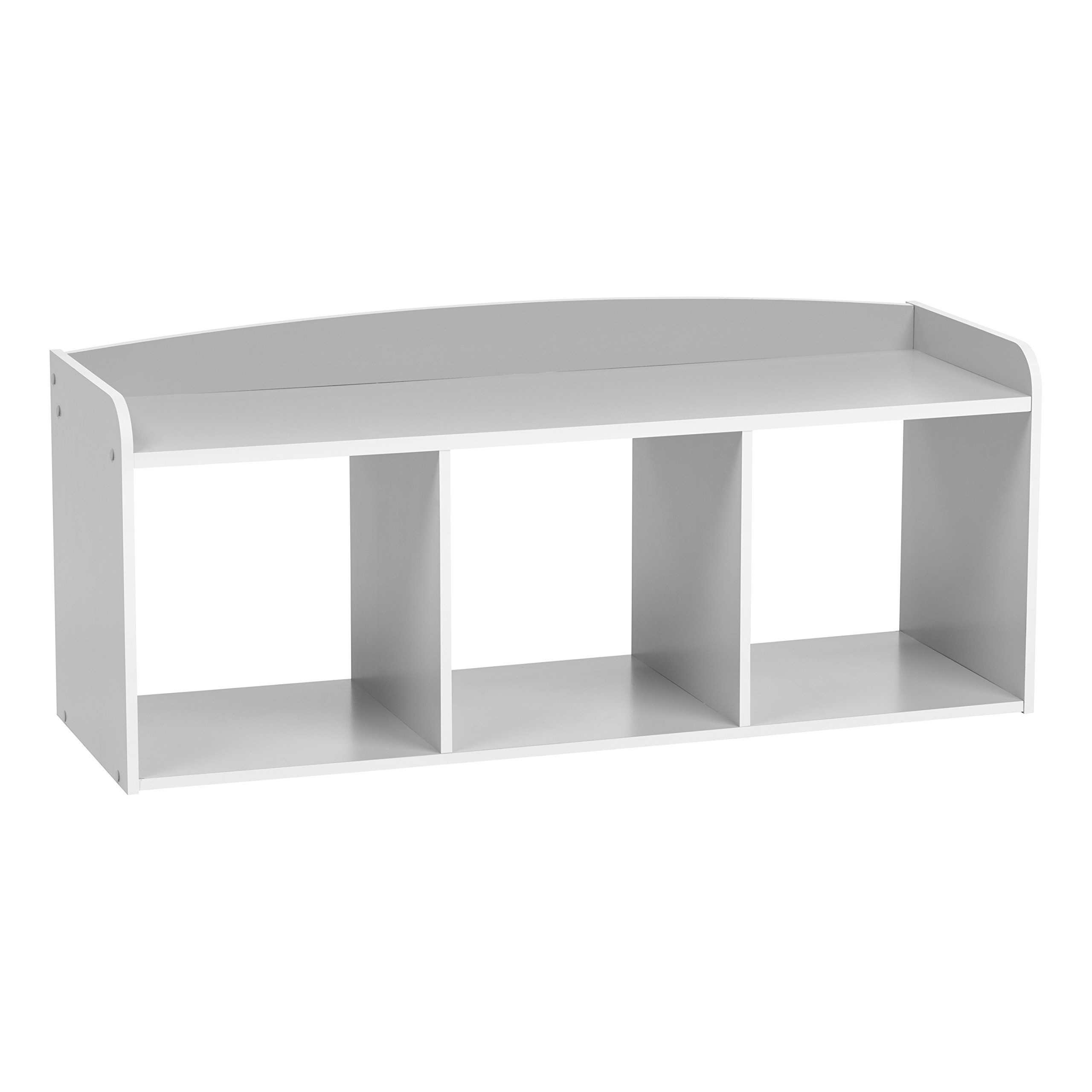 IRIS USA 595905 Kid's Wooden Storage Bench, Gray
